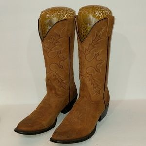 Ariat Brown Leather Boots Size 8.5